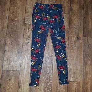 Lularoe OS leggings colorful birds